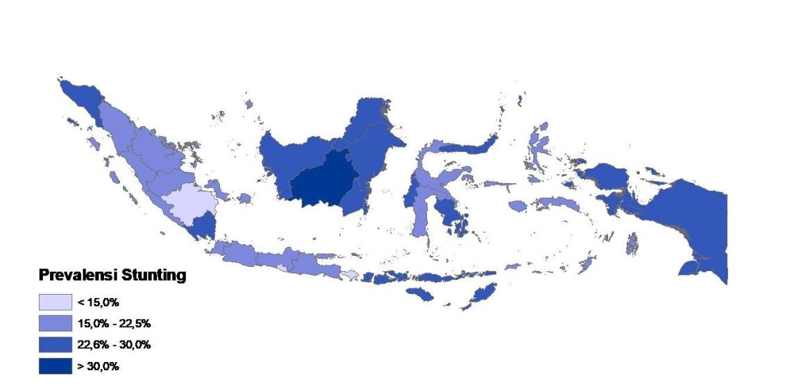 Gambaran Prevalensi Balita Stunting dan Faktor yang Berkaitan di Indonesia: Analisis Lanjut Profil Kesehatan Indonesia Tahun2017
